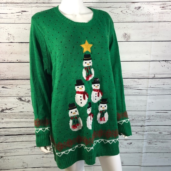 998425c8c3a holiday time Sweaters - Ugly Christmas Sweater Snowman Women s Plus Sz 3X